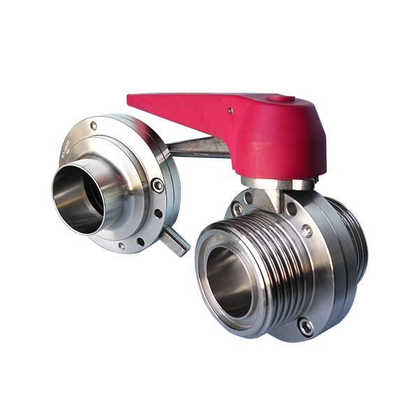 SMS Butterfly Valve - Weld End / Male End